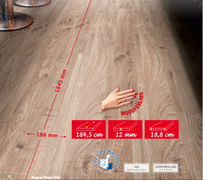 PLANCHER STRATIFIE 12 MM X-TREME FLOOR