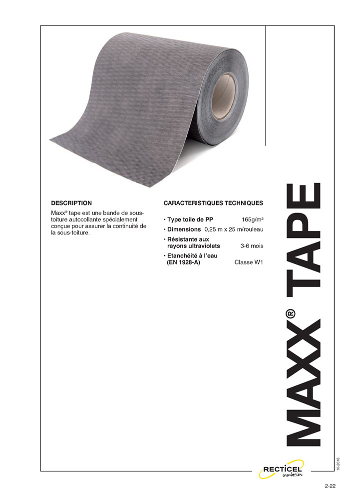 RECTICEL MAXX TAPE 250 mm